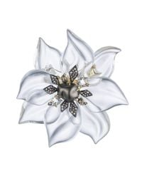 Alexis Bittar - White Crystal Encrusted Starburst Pearl Pin You Might Also Like - Lyst