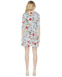 Alice + Olivia - Multicolor Moore Button Up Layered Tunic Dress - Lyst
