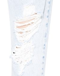 Alice + Olivia - Blue Genevive Distressed Jeans - Lyst