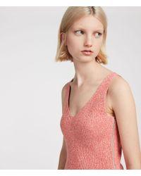 AllSaints - Pink Anza Knit Dress - Lyst