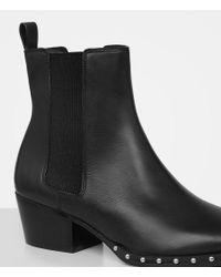 AllSaints - Black Ellis Ankle Boot - Lyst