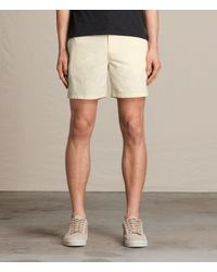 AllSaints | Natural Warden Swim Shorts Usa Usa for Men | Lyst