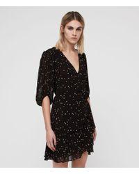 edbe5276a1 AllSaints Gracie Nala Dress in Black - Lyst