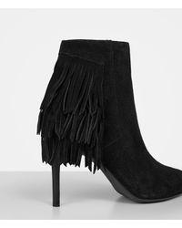 AllSaints | Black Xandra Suede Ankle Boots | Lyst