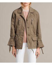 AllSaints | Green Amira Jacket | Lyst