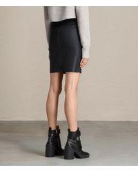 AllSaints - Black Metal Pencil Skirt Usa Usa - Lyst