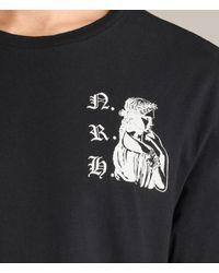 AllSaints - Black Busted Crew T-shirt for Men - Lyst