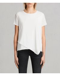 AllSaints - White Daisy T-shirt - Lyst