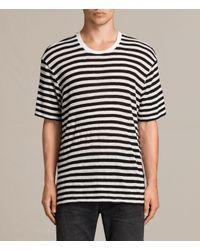 AllSaints | Black Yeshi Crew T-shirt for Men | Lyst