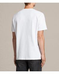AllSaints   White Morten Crew T-shirt for Men   Lyst
