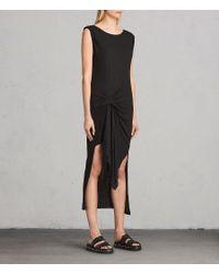 AllSaints - Black Riviera Tavi Dress - Lyst