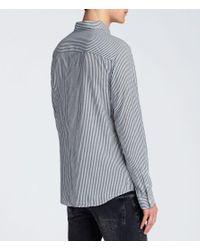 AllSaints - Gray Elderwood Shirt for Men - Lyst