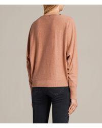 AllSaints - Pink Elle Sweater - Lyst