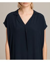 AllSaints - Blue Via Dress - Lyst