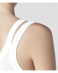 AllSaints - White Colette Strap Vest - Lyst