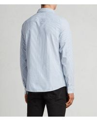 AllSaints - Blue Kilda Shirt for Men - Lyst