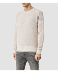 AllSaints | Natural Arden Crew Sweater Usa Usa for Men | Lyst