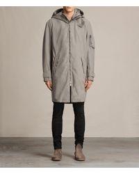AllSaints | Natural Berwyn Parka Coat for Men | Lyst
