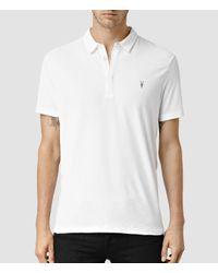 AllSaints | White Brace Polo Shirt Usa Usa for Men | Lyst