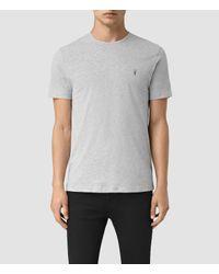 AllSaints   Gray Brace Tonic Crew T-shirt for Men   Lyst