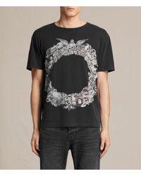 AllSaints | Black Dead Ringer Crew T-shirt Usa Usa for Men | Lyst