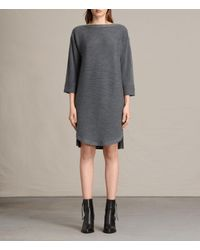AllSaints | Gray Esia Dress Usa Usa | Lyst