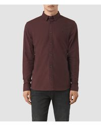 AllSaints | Brown Hungtingdon Shirt Usa Usa for Men | Lyst