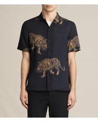 AllSaints   Black Java Short Sleeve Shirt for Men   Lyst