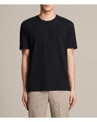 AllSaints | Black Jefris Crew T-shirt for Men | Lyst
