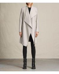 AllSaints Gray Lora Coat