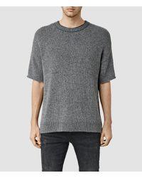 AllSaints   Gray Minami Short Sleeve Crew T-shirt for Men   Lyst
