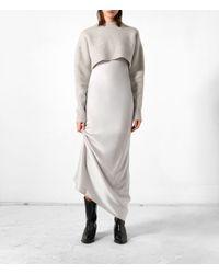 AllSaints | Gray Naomi Dress | Lyst