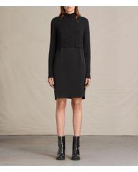 AllSaints | Black Paro Dress Usa Usa | Lyst