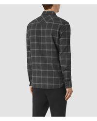AllSaints - Gray Realitos Shirt for Men - Lyst