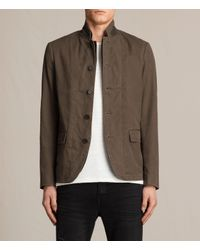 AllSaints | Brown Remley Blazer Usa Usa for Men | Lyst