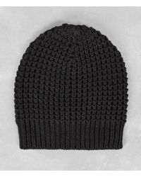 AllSaints | Black Rok Beanie Hat for Men | Lyst