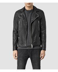 John Lewis - Black Allsaints Conroy Leather Biker Jacket for Men - Lyst