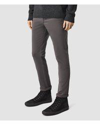 AllSaints - Gray Silas Trousers for Men - Lyst