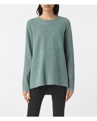 AllSaints | Blue Terra Crew Neck Sweater Usa Usa | Lyst