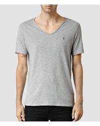 AllSaints | Gray Tonic Scoop T-shirt Usa Usa for Men | Lyst
