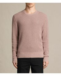 AllSaints | Pink Trias Crew Sweater Usa Usa for Men | Lyst