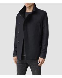 AllSaints - Black Wade Pea Coat Usa Usa for Men - Lyst