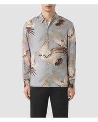 AllSaints | Gray Wader Shirt for Men | Lyst