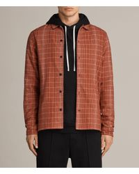 AllSaints - Red Alverstone Shirt for Men - Lyst