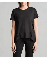 AllSaints - Black Nadia T-shirt - Lyst