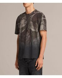 AllSaints - Black Contour Crew T-shirt for Men - Lyst