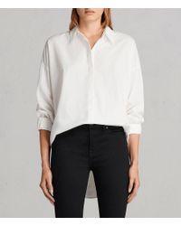 AllSaints - White Sada Shirt - Lyst
