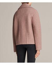 AllSaints - Pink Remi Jacket - Lyst