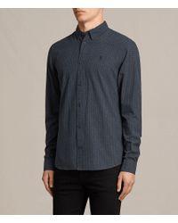 AllSaints - Blue Quarry Shirt for Men - Lyst