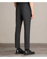 AllSaints - Gray Vernon Trouser for Men - Lyst